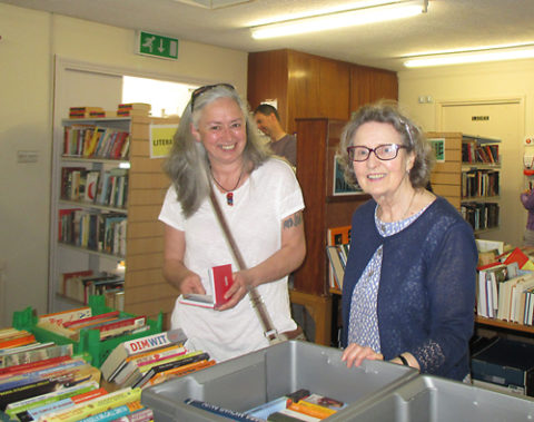 Enjoying the Monthly Book Sale in Shankill Daycare Centre